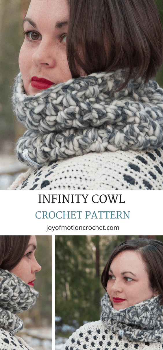Infinity Cowl Crochet Pattern Easy Crochet Pattern Joy Of Motion