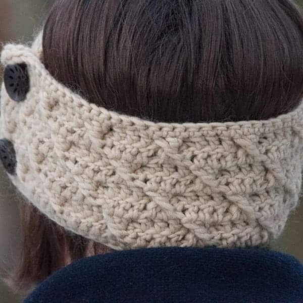 headband with cross pattern crochet pattern design