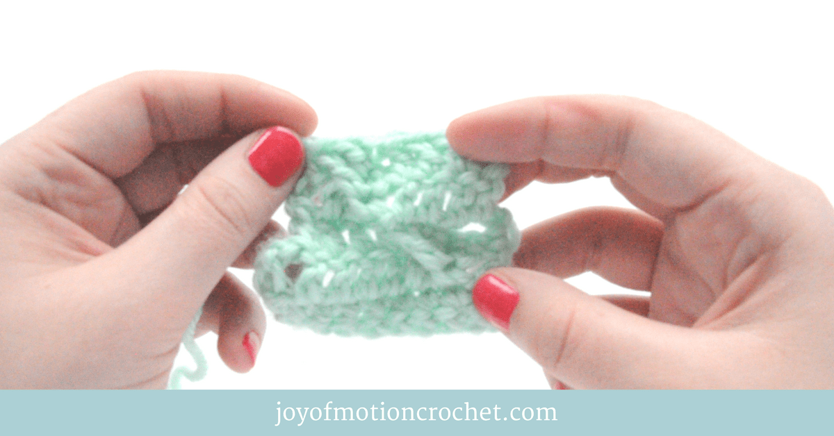 how to crochet the cross pattern stitch