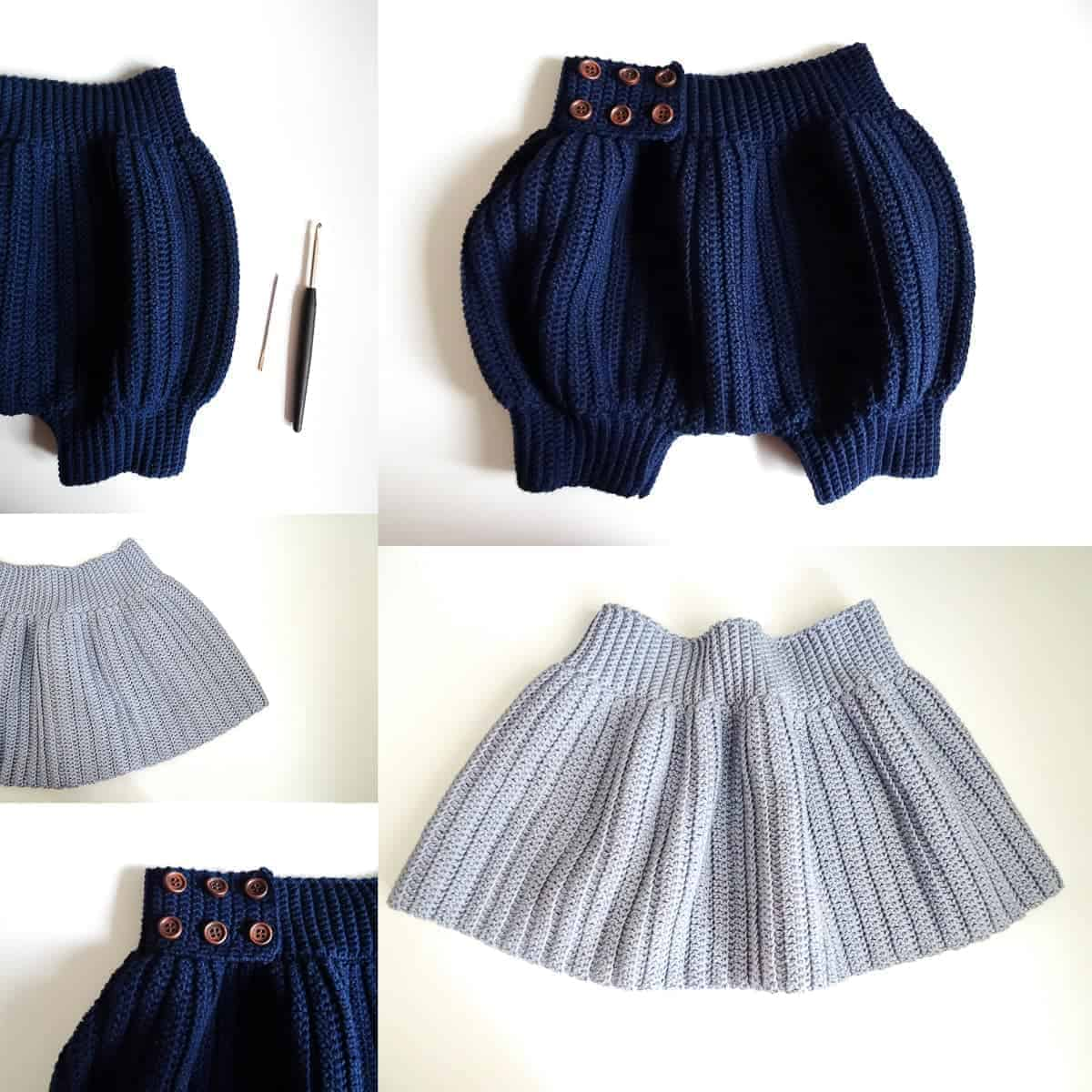 Parva Skirt and Shorts Crochet Pattern Design – Skill Level Easy