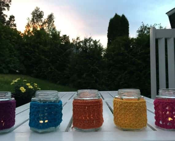 8 Mason Jar Covers Crochet Pattern Designs – Skill Level Easy