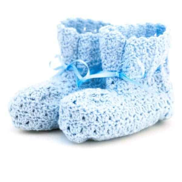 baby boots crochet pattern design
