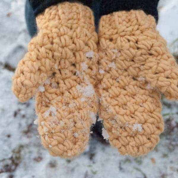 bulky mittens crochet pattern design really warm winter bundle