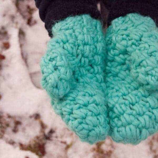 really warm winter bundle bulky mittens crochet pattern design