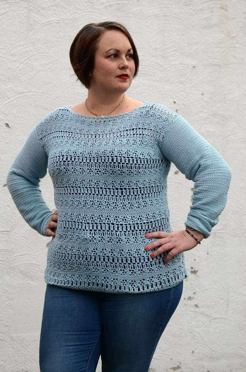 Coelum Sweater Crochet Pattern Design – Skill Level Easy