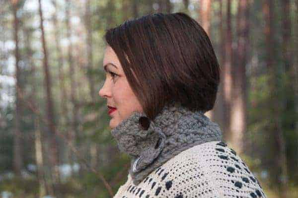 cozy cowl crochet pattern design