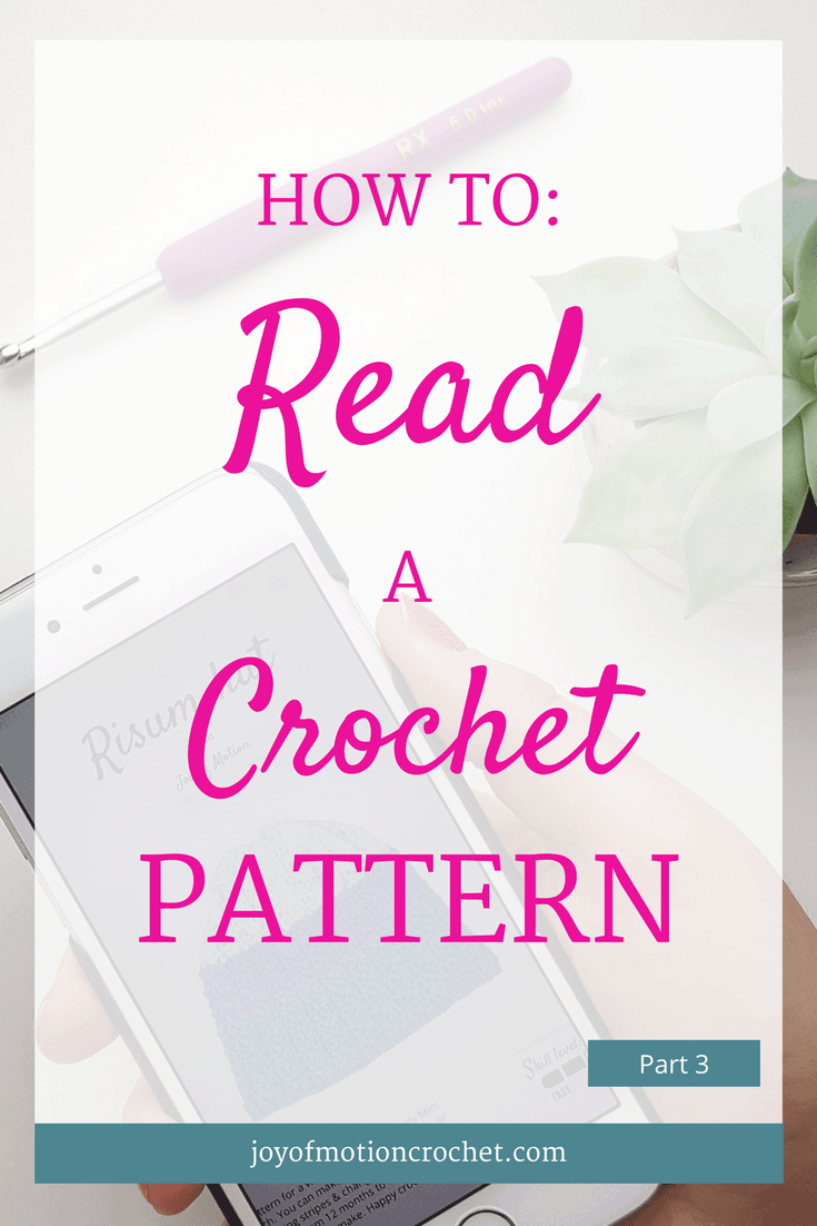 HOW TO: read a crochet pattern - part 3. Learn to read crochet patterns with Joy of Motion. Crochet Guides. Free Crochet Tutorials. Free Crochet Guides. Crochet Guides Link. Crochet Tutorials. Learn To Understand Crochet Patterns. Repin this to read, learn & keep it forever.