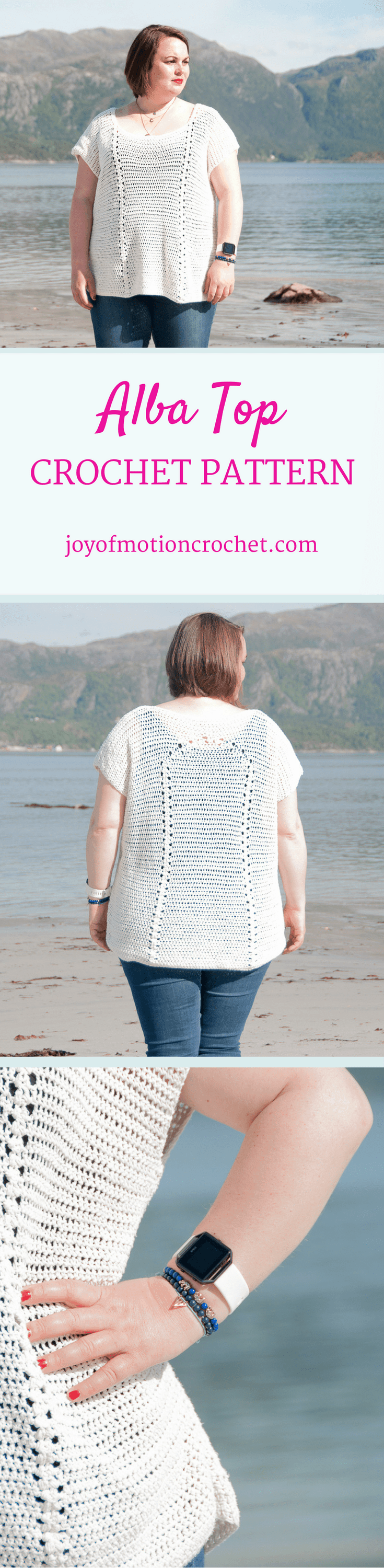 The Alba top a crochet pattern. Woman's top crochet pattern with skill level easy. Make this fashionable crochet top with your own crochet hook & yarn. Top crochet pattern easy for her. Top crochet pattern easy for her. | crochet top | woman's crochet top | crochet pattern for her | fashionable crochet top | interesting crochet top | Click to purchase or repin to save it forever.