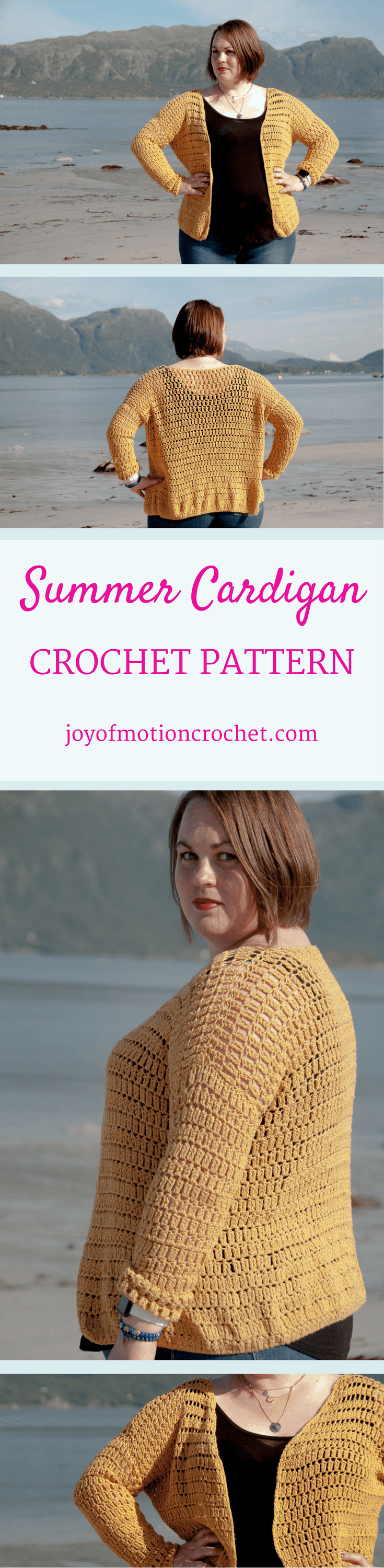 The Summer Cardigan a crochet pattern. Woman's cardigan crochet pattern with skill level easy. Make this fashionable crochet cardigan with you own hook & yarn. Cardigan crochet pattern easy for her . Crochet cardigan | woman's crochet cardigan | crochet pattern for her | fashionable crochet cardigan | interesting crochet cardigan | click to learn more or repin to save it forever.