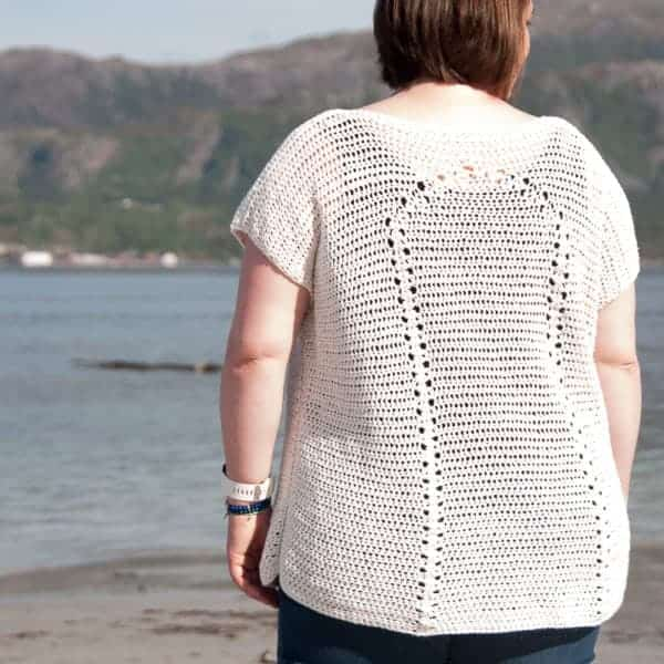 alba top crochet pattern design