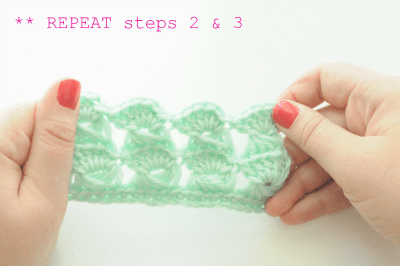 how to crochet the broomstick lace stitch