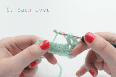 how to crochet the double crochet stitch