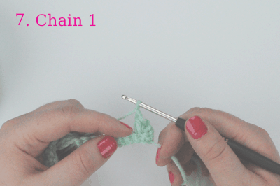 how to crochet the mini flower stitch