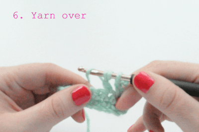 how to crochet the treble crochet stitch