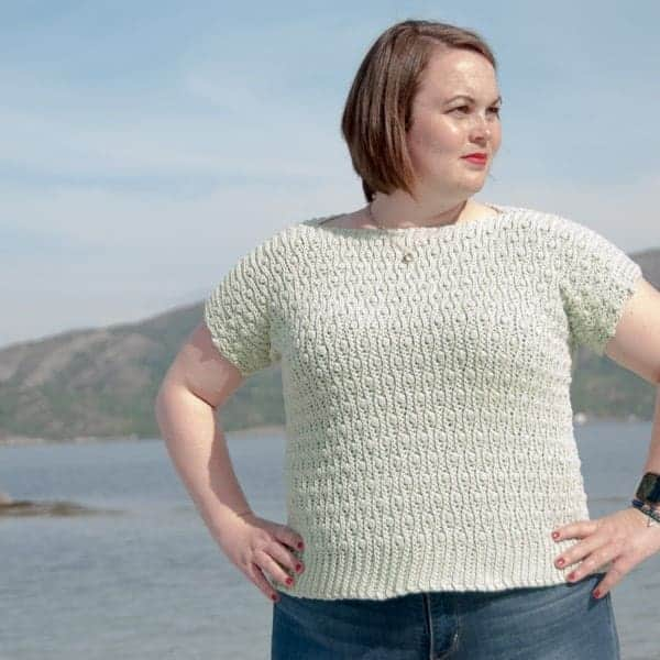 aran cotton women's bundle solis top crochet pattern
