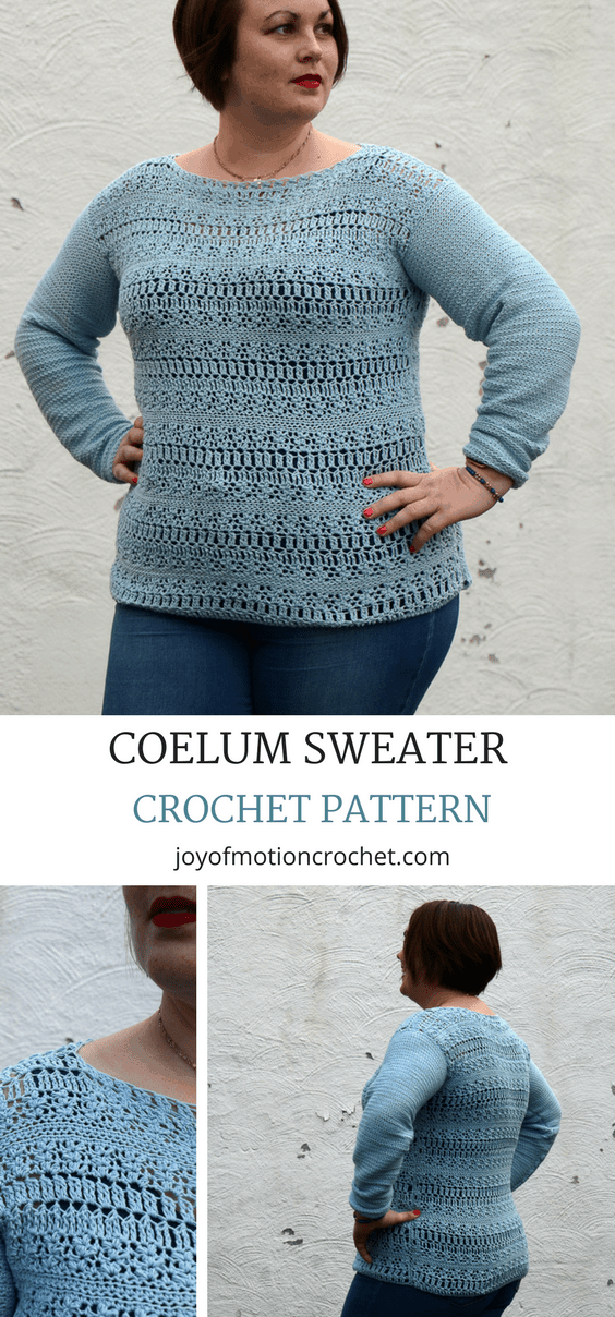Coelum Sweater Crochet Pattern • Easy Crochet Pattern • Joy of Motion
