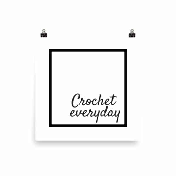 crochet everyday poster black