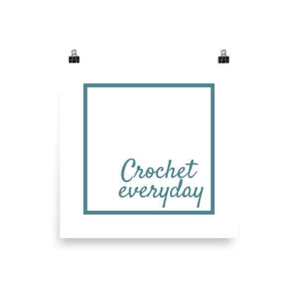 crochet everyday poster teal