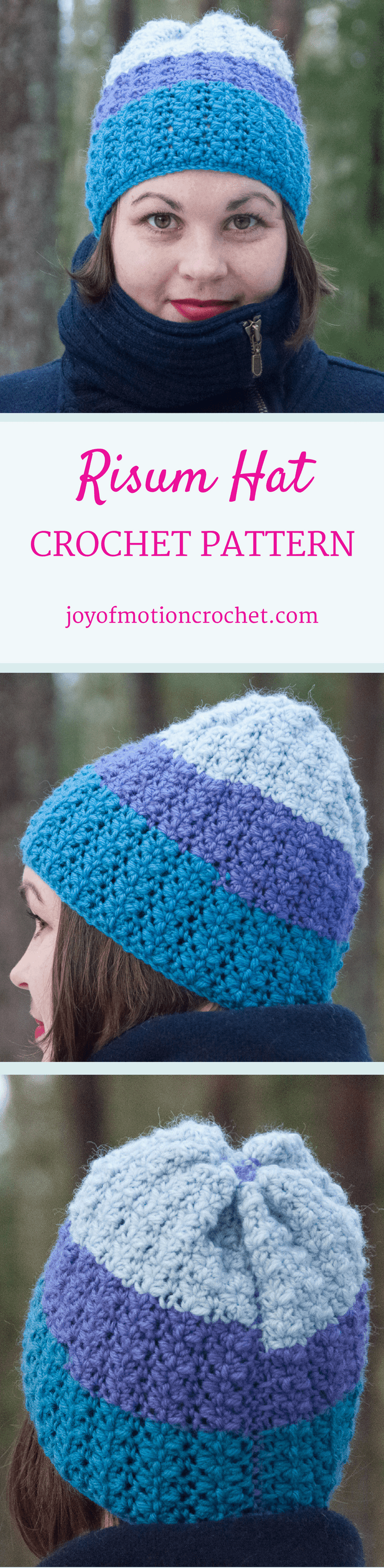 The Risum hat. Crochet pattern for a warm winter hat. This beanie pattern has a huge size range from 12 months to adult size| Hat crochet patterns. Crochet pattern hats. Beanie crochet patterns. Hood crochet pattern. Hat crochet designs. Slouchy hat patterns. Slouchy beanie crochet patterns. Animal crochet pattern hats. Women's crochet pattern hat. Baby crochet pattern beanie. Beanie crochet pattern children's. Click link to learn more.