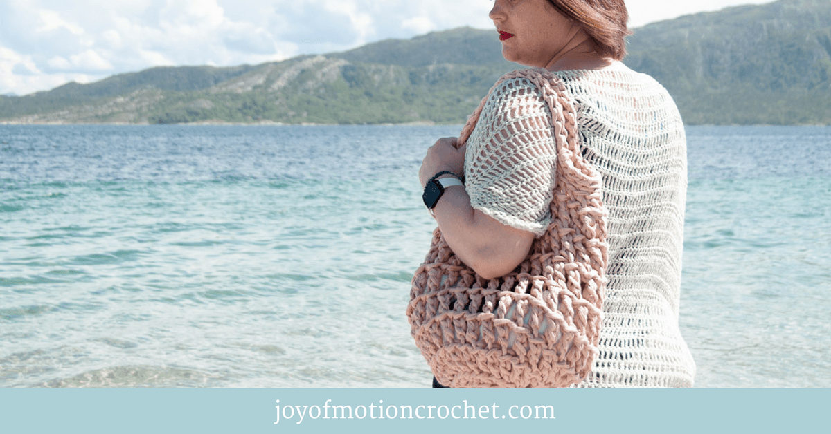 Litus Beach Bag Crochet Pattern Easy Crochet Pattern Joy Of Motion
