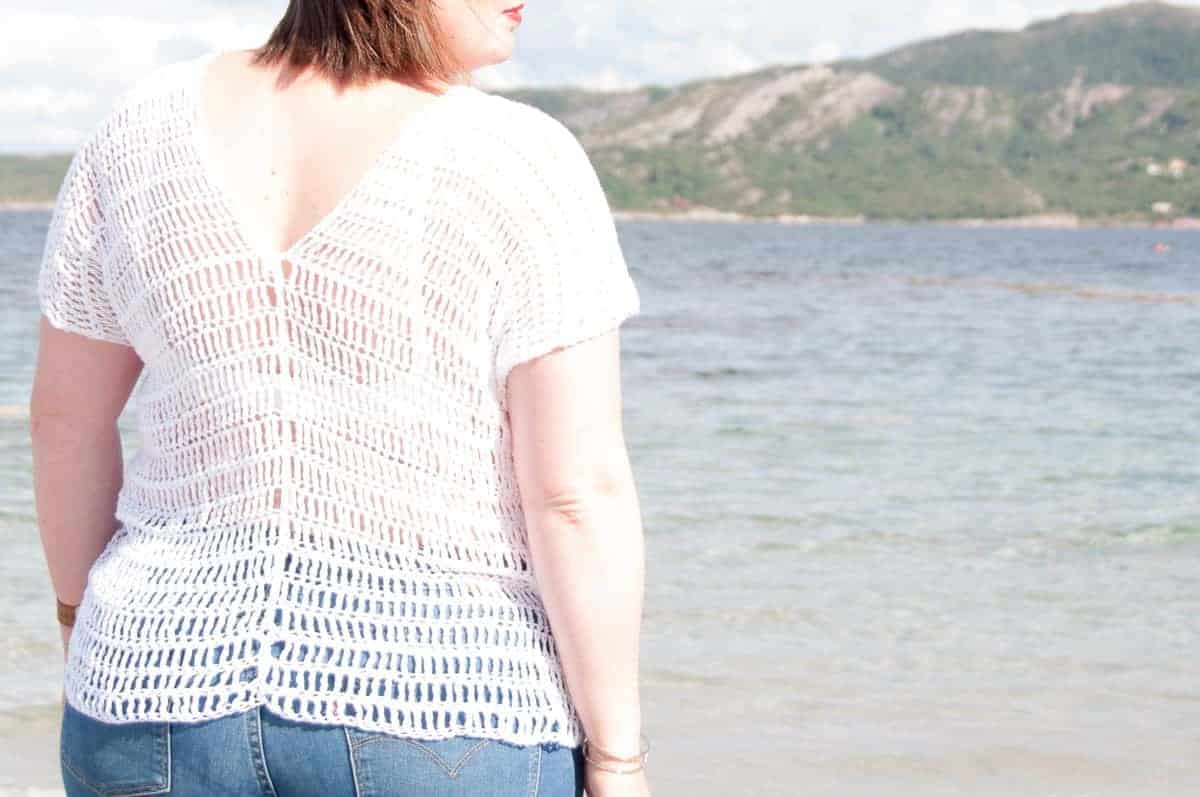 caeli top crochet pattern design