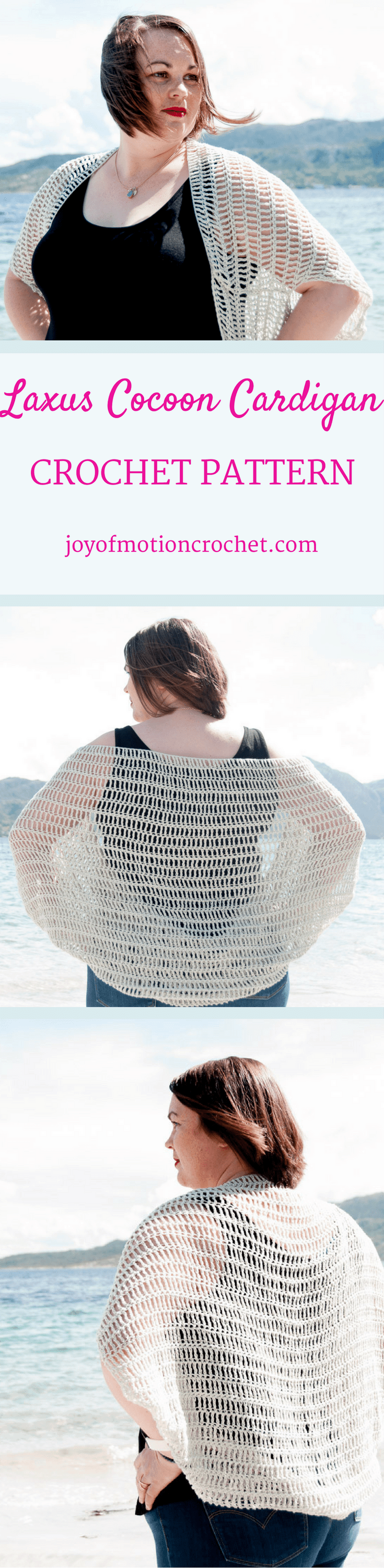 The Laxus Cocoon Cardigan Crochet pattern. Beginner crochet pattern. Woman's cocoon cardigan. Cocoon sweater. Crochet cocoon cardigan. Crochet Cocoon Sweater. Crochet cocoon blanket sweater.  Crochet cocoon shrug.  Crochet cocoon pattern.