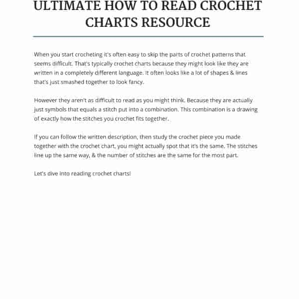 the ultimate how to read crochet charts resource