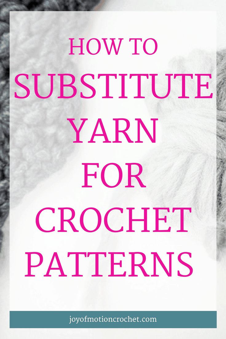 How to substitute yarn for crochet patterns. Substitute yarn | calculate how much yarn you'll need | calculate yardage | calculate yarn | substitute yarn for crochet | substitute yarn for crochet patterns | substitute yarn for crochet projects