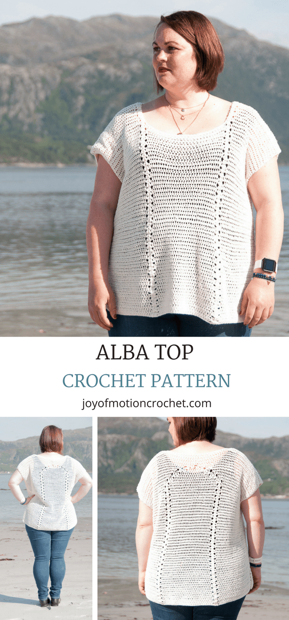 Alba top Crochet pattern. Crochet top off shoulder. Crochet Top Beach. Crochet top bohemian. Crochet top shirt. #crochetpattern #crochettop #crochetforher #topcrochet #crochettoppattern