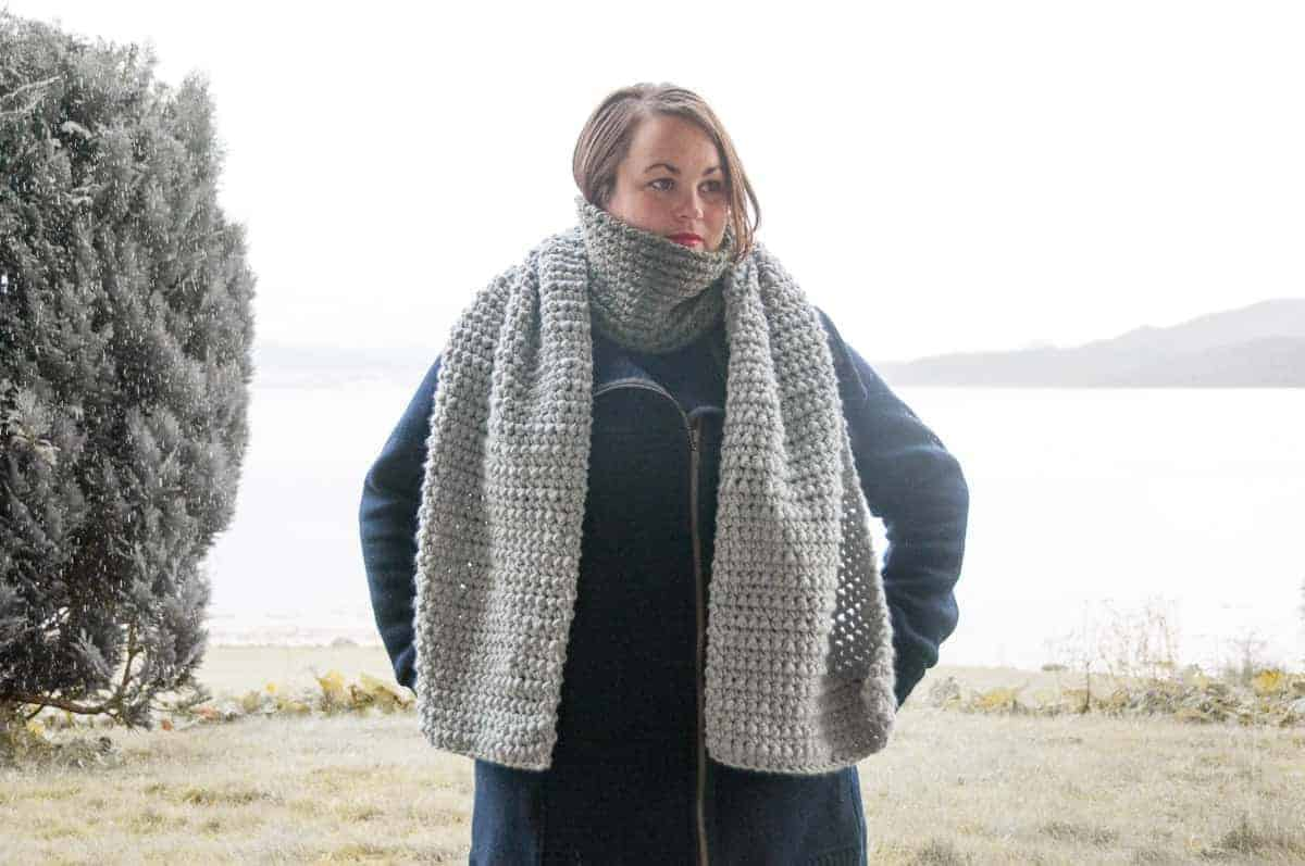 crochet scato scarf free crochet pattern design
