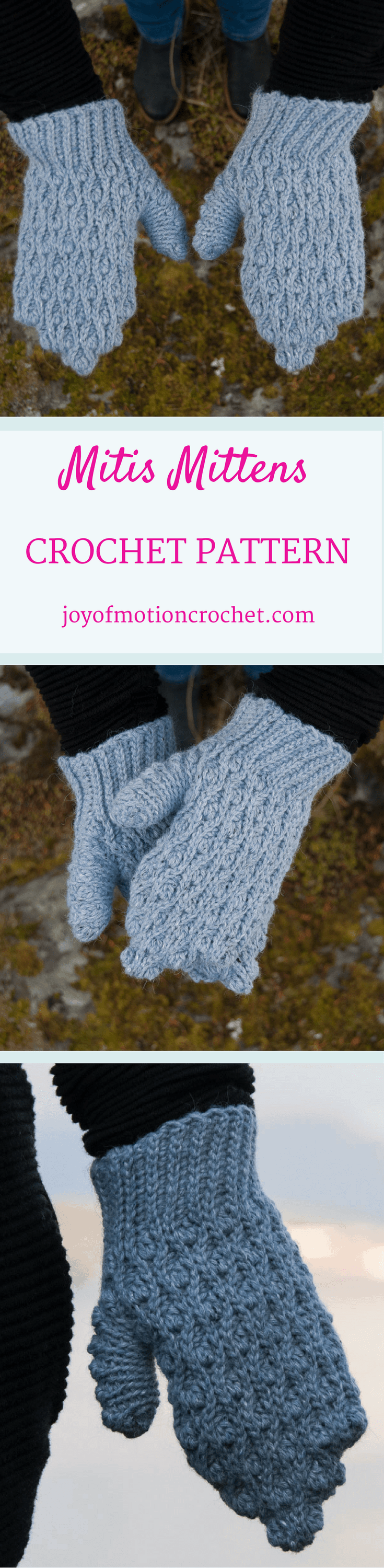 Mitis Mittens Crochet Pattern. Intermediate crochet mittens. Bulky weight crochet mittens. Crochet gloves. How to crochet mittens. #crochetpattern #crochetmittens #crochetgloves #crochetpatternmittens #crochet