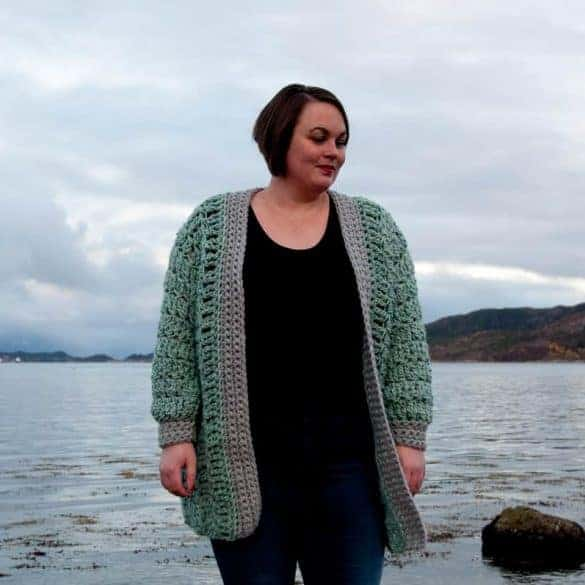 Regelo Cardigan Crochet Pattern Design – Skill Level Intermediate