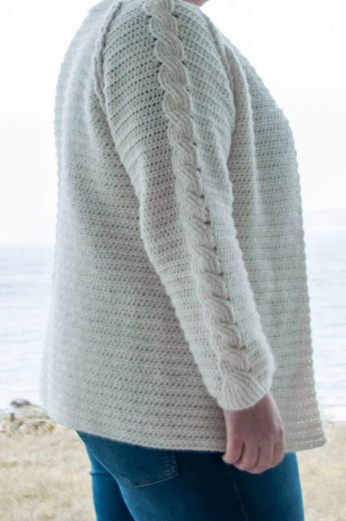 nivis cardigan crochet pattern design