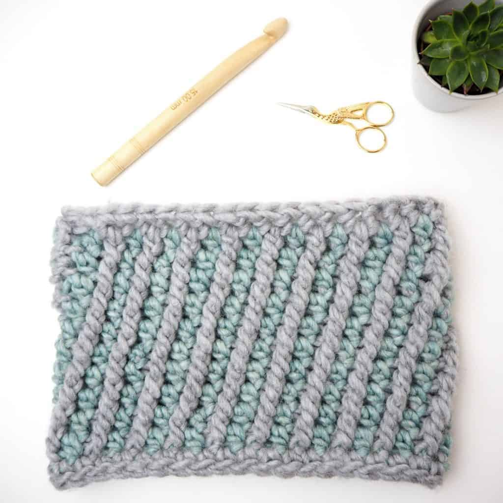 writing your first crochet pattern stella mini cowl materials needed