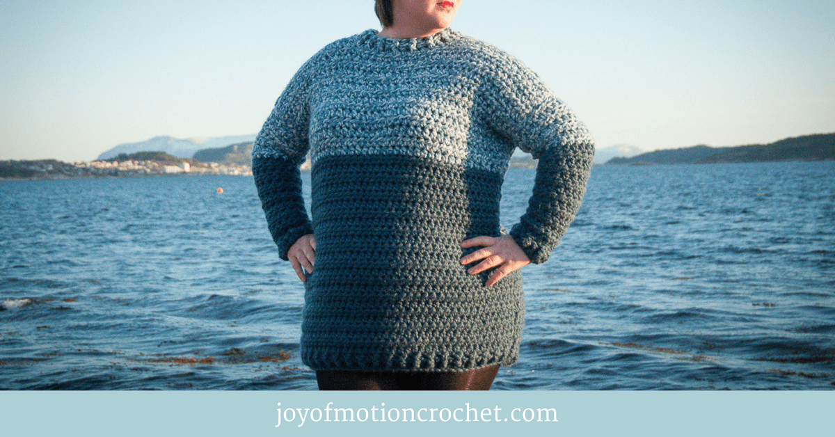 crochet bacca sweater dress crochet pattern design, free crochet pattern by Joy of Motion Crochet, easy skill level