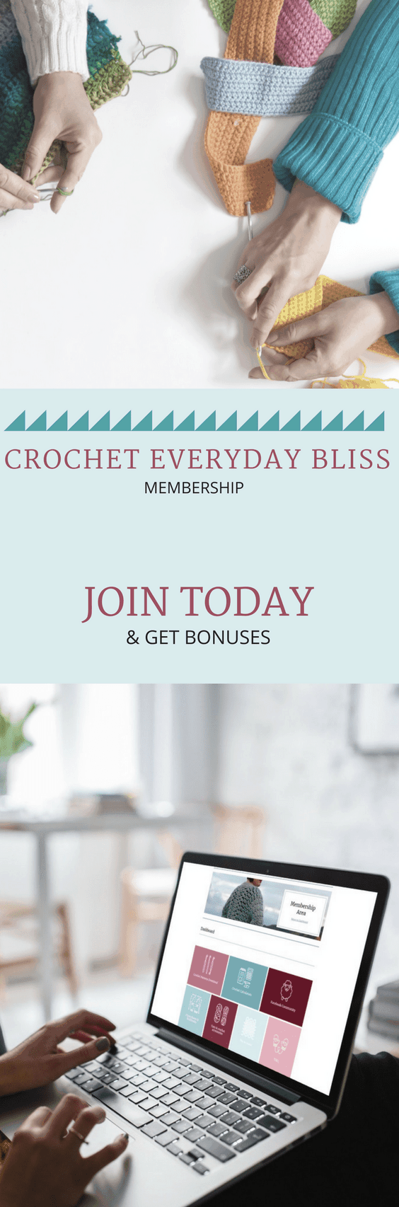 Crochet Everyday Bliss. A crochet membership. Crochet patterns. Crochet Calculators. Crochet Resources. Crochet community. #crochetpattern #crochet #crochetcommunity #crocheteveryday #crocheteverydaybliss