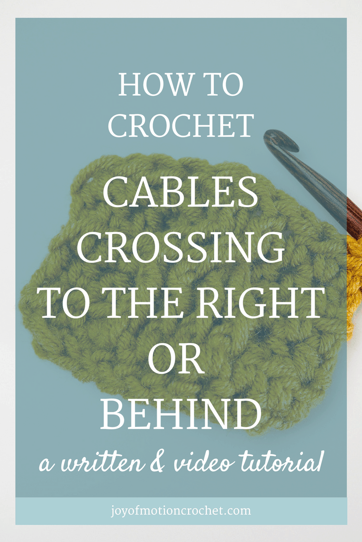 HOW TO Crochet Cables Crossing to the Right or Behind. Crochet Cable. Crochet cables. Crochet braid. Crochet cables crossing behind. Crochet cables crossing to the right. Crochet cables twisting to the right. Crochet stitch tutorial. Crochet post stitches. #crochettutorial #crochetcables #crochet #crocheting