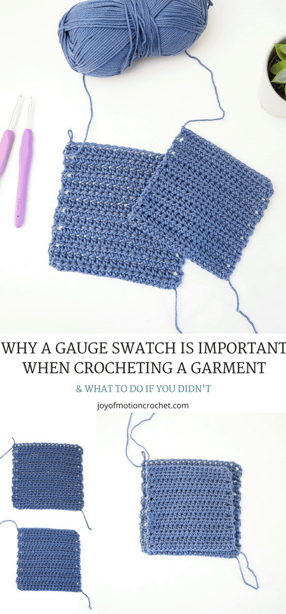 Why a Gauge Swatch is Important When Crocheting A Garment. Gauge swatch crochet. Gauge swatch for crochet sweaters. Test your gauge crochet. Test gauge for crochet clothing. #gaugeswatch #gauge #crochetgauge #crochet #crochetgarment