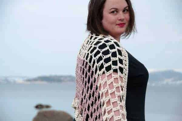 crochet airy shrug crochet pattern