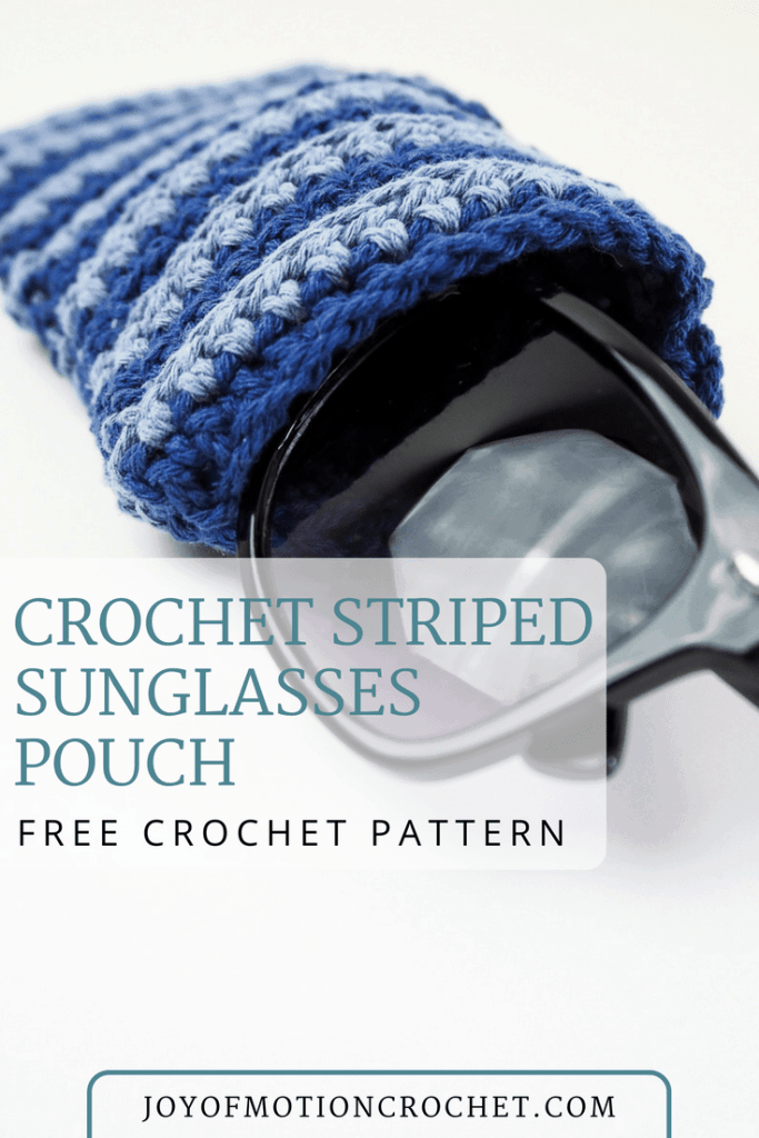 Crochet Striped Sunglasses Pouch