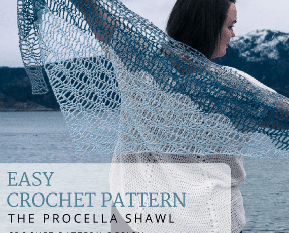 Procella Shawl Crochet Pattern Design – Skill Level Easy