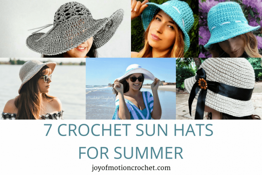 7 Crochet Sun Hats for Summer – Crochet Roundup