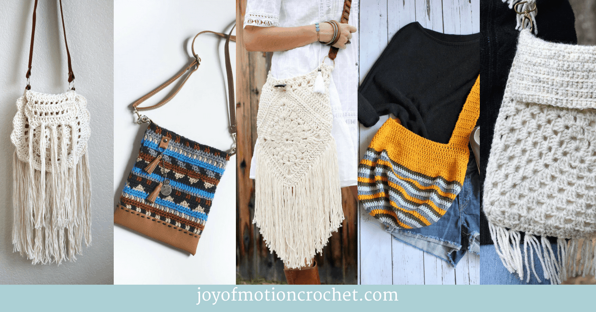Awesome Boho Bags and Purses a crochet roundup collage