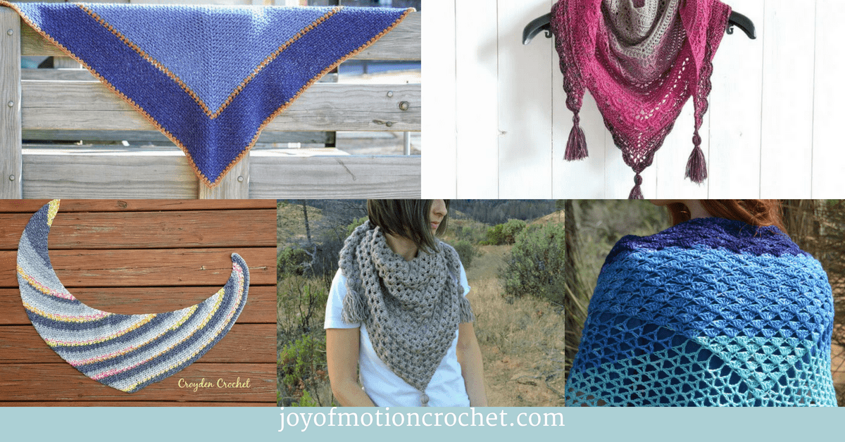 8 Great Crochet Shawls and Scarfs, a crochet collage with shawls