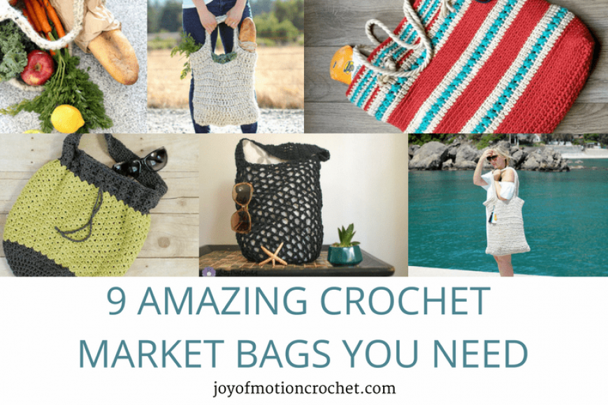 9 Amazing Crochet Market Bags You Need – Crochet Roundup
