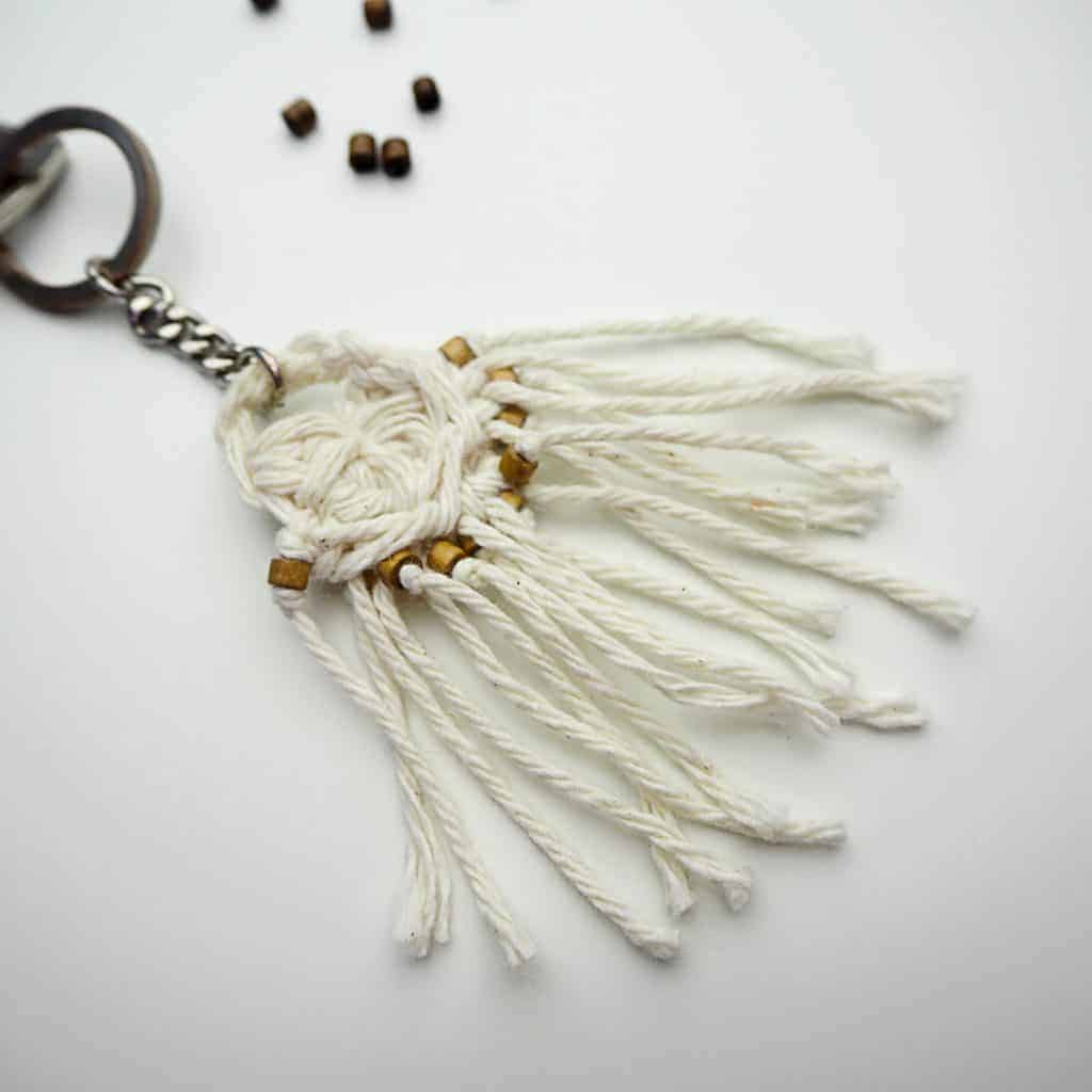 crochet Boho Fringe Key Chain Crochet Pattern Design , easy crochet key chain