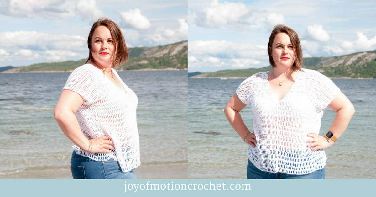 crochet caeli top crochet pattern design, a crochet top modeled