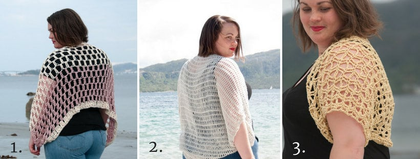 crochet caeli top, a list of 3 similar patterns