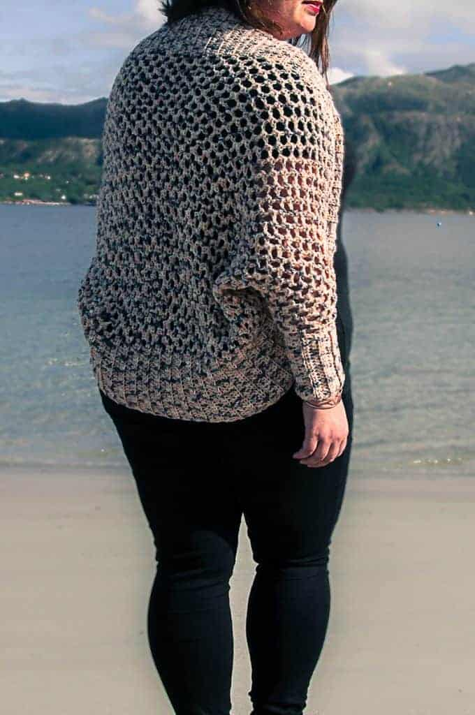 crochet mollis wrap cardigan, crochet shrug pattern for women
