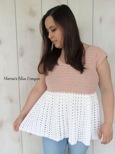 fun summer crochet tops, a crochet top modeled